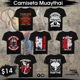 Camisetas muaythai kick boxing