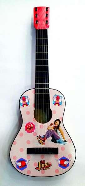 Guitarra Acústica Pequeña Personajes Infantiles Niña Madera