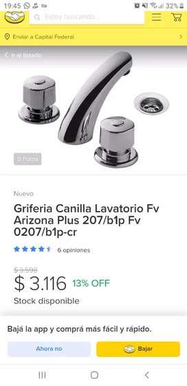 Griferia para pileta de baño o de cocina
