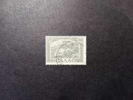 ESTAMPILLA GRECIA 1947, ANEXIÓN ISLAS DODECANESO, VALOR 100 APX, USADA