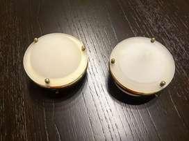 2 apliques de luz de techo. Con transformador y lámpara