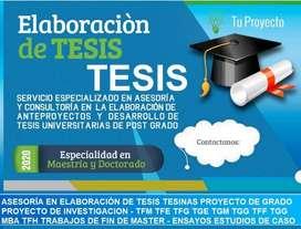 ASESORÍA PARA TAREA ACADÉMICA DE INVESTIGACIÓN SOBRE DESARROLLO E INTRODUCCIÓN DE PROYECTO DE TESIS PROFESOR