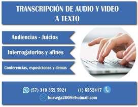 Servicio de transcripción de audio a texto al mejor precio.
