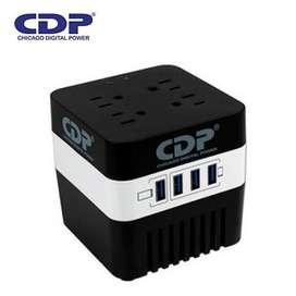 ESTABILIZADOR CDP RU-AVR604I 600VA/720W 4 SALIDAS 4 PORT USB itelsistem