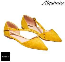 Promoción Baletas Studio F - Color Mostaza.