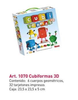 Juego didáctico - Cubi formas 3D