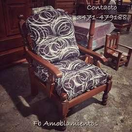 Juego de living Asturiano doble