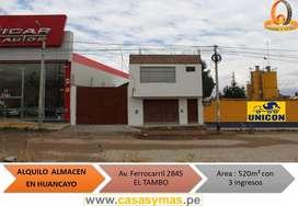 ALQUILO ALMACEN COSTADO DE UNICON HUANCAYO