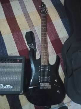 Guitarra electrica vorson edg-46 negra + amplificador Boston GA-10