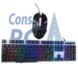Promoción - combo mouse y teclado Retroiluminado