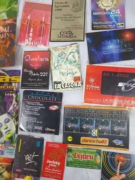 Tarjetas Invitaciones --(boliches Discotecas)antigua C/u25