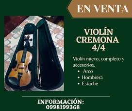 Se vende Violin Cremona 4/4