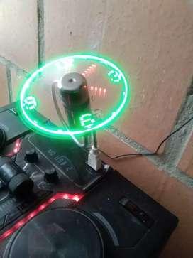 Vendo reloj led ventilador entrada usb cambio x maleta o casco moto