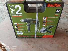 bauker amoladora820w  y taladro600w , mejoremos la casa