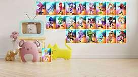 cuadros decorativos del personaje Sonic decoraciones de pared perfectas para sala de estar, dormitorio, cocina, comedor,