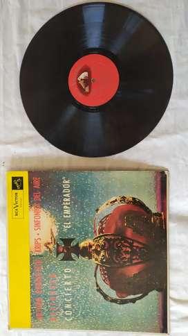 Disco vinilo Arturo Rubinstein concierto el emperador Beethoven