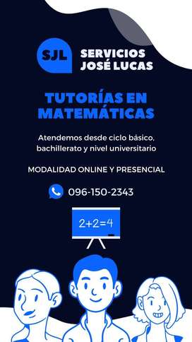 Tutorías en Matemáticas