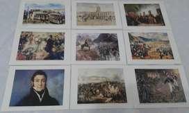 11 Laminas Para Enmarcar De Historia Argentina De 25 X 19 Cm