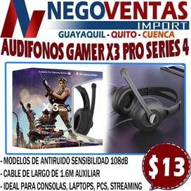 AUDÍFONOS GAMER  X3 PRO SERIES 4