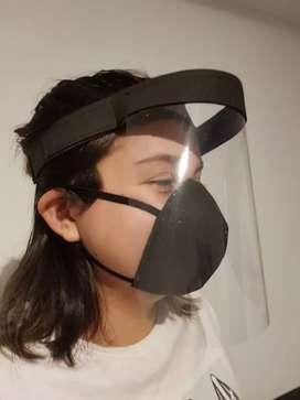 Máscara de acetato liviana
