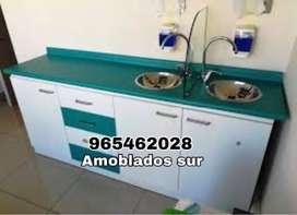 Mobiliario dental con tablero de granito o pspt formado