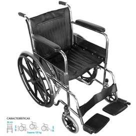 Se alquila silla de ruedas estandar