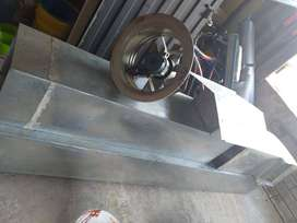 Ducto con 2 Extractores de aire para restaurante