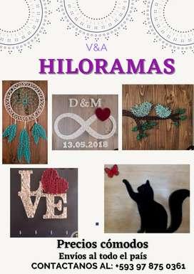 Hiloramas (arte en hilos)