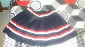 Falda de Porrista Diferente color adelante y atro atrass