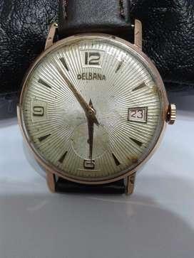 Reloj Delbana Cudrante Texturado Vintage Decada Del 40,.50