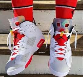 Zapatos nike jordan hombre blancos