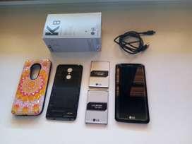 LG K8 X240AR con 2 baterias, protector pantalla cristal y funda rigida proteccion trasera - Impecable