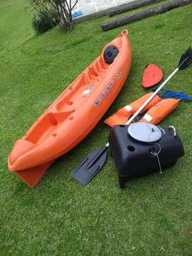 Kayak k1 con remo silleta salvavidas y caja estanco
