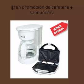 Cafetera + sanduchera