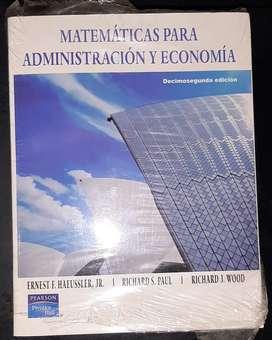 LIBRO NUEVO de Matemáticas para Administración y economía