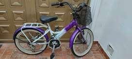 Bicicleta niña playera