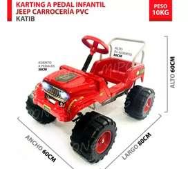Jeep a pedal para niño/a. ENVÍO GRATIS (Resistencia-Ctes. Capital)