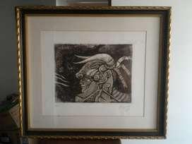 Armando Villegas Obra de Arte Grabado