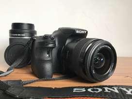 Cámara Sony SLT - A58 + 2 lentes 18-55 / 55-200