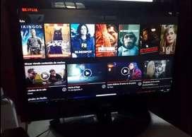 Oportunidad monitor tv 20 full hd 1080 con hdmi y control coby traido afuera