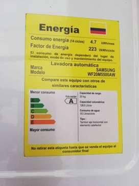 LAVADORA SAMSUNG CARGA FRONTAL 20 KGS WF20M5500AW