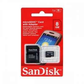 Micro Sd 8gb Class 4 Sandisk