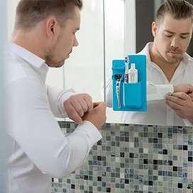 Organizador De Baño Cepillo Afeitadora Crema dental en Silicona Adhesivo