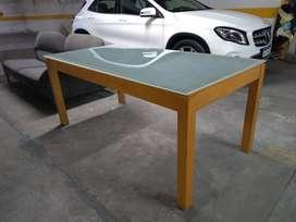 Mesa de maderas guatambú maciza