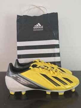 Guayos Adidas Amarillos F50 talla US 5 1/2