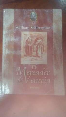 El Mercader de Venecia; William shakespear
