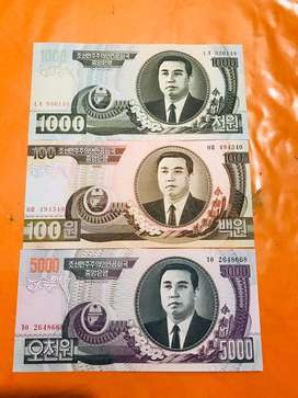 Set Billetes Corea del Norte