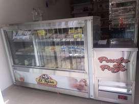 Se vende mostradora de refrigeración  y congelación