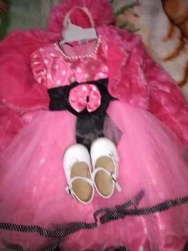 Vestido de minnie