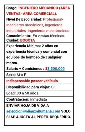 Ingeniero de Ventas en  Bogota